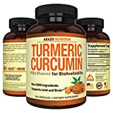 Turmeric Curcumin with BioPerine 1300MG with Black Pepper – Joint Support Nutritional Supplements – 100% Herbal Tumeric Root Capsules – Arazo Nutrition Review