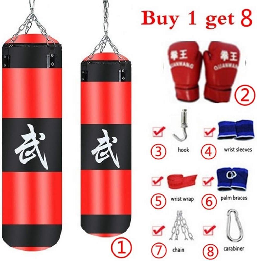 Saco De Boxeo para Entrenamiento De Boxeo 8 Piezas//Set Fitness Training MMA Saco De Boxeo Sport Kick Hanging Sandbag 1# turkeybaby Conjunto De Saco De Boxeo