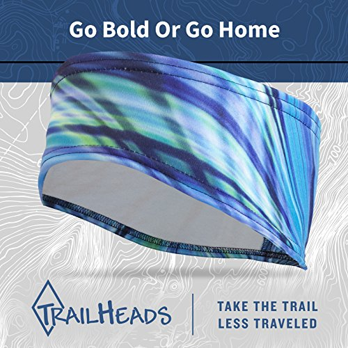 TrailHeads Women's Print Ponytail Headband – 12 prints  - Made in USA - deep dive blue by TrailHeads (Image #5)