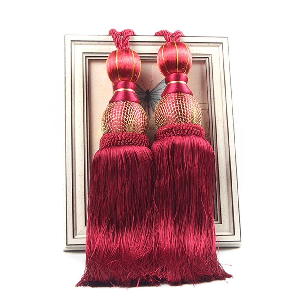 2 PCS Curtain Tieback Tassel Binding Rope Curtain Holdbacks Buckle European Style LianLe