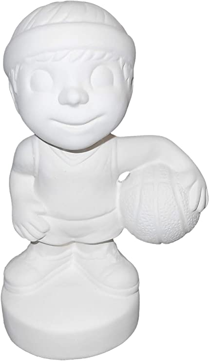 Paint Your Own Sporty Ceramic Keepsake Take It to The Net Basketball Player