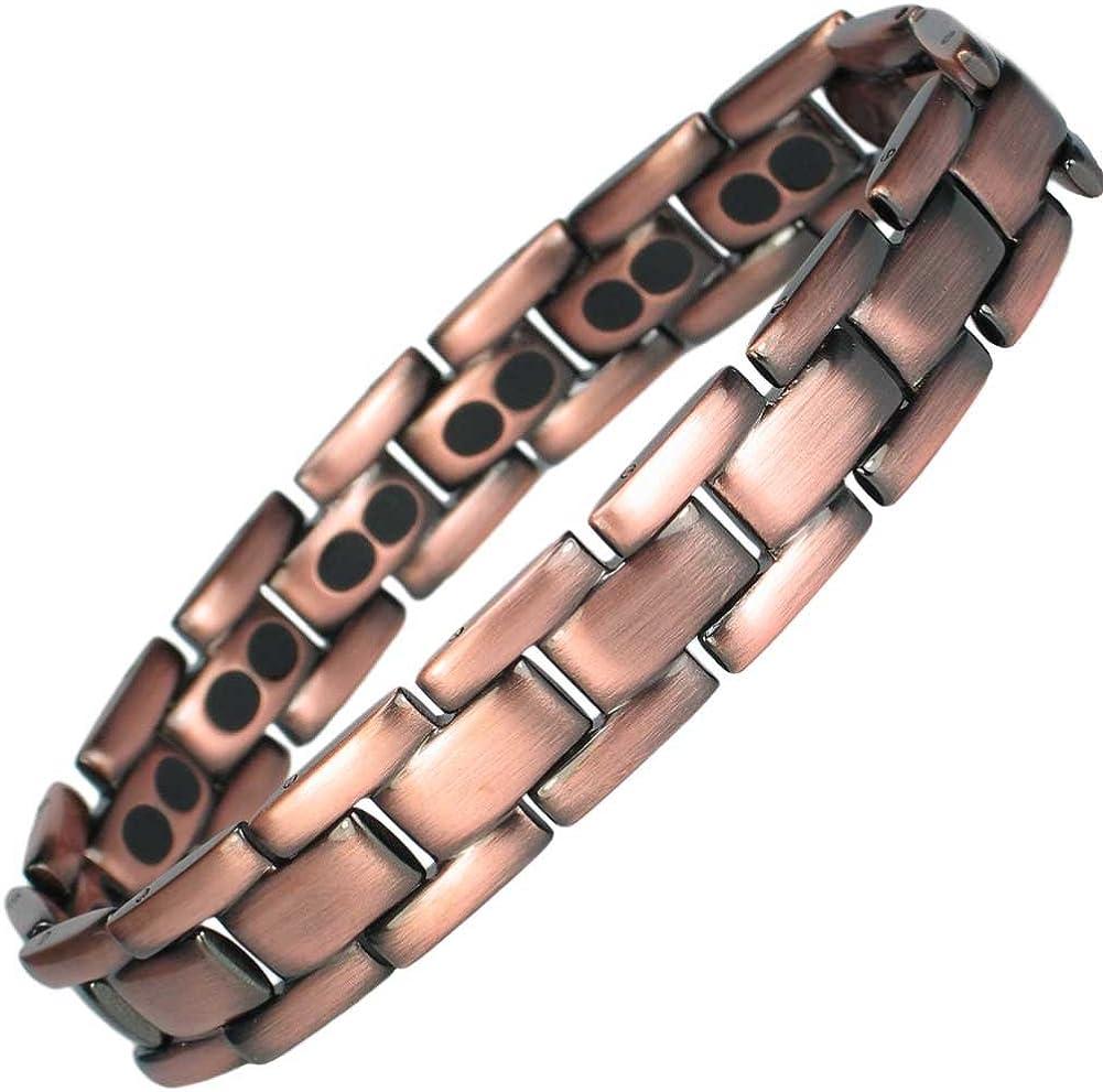 Polaris pour Homme Titane Bracelet aimant/é MPS/® Bracelet magn/étique Homme avec Outil Gratuit pour enlever Liens
