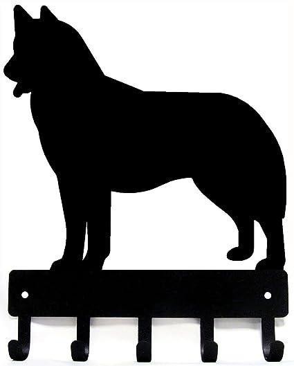 Amazoncom The Metal Peddler Husky Key Rack Dog Leash Hanger Large