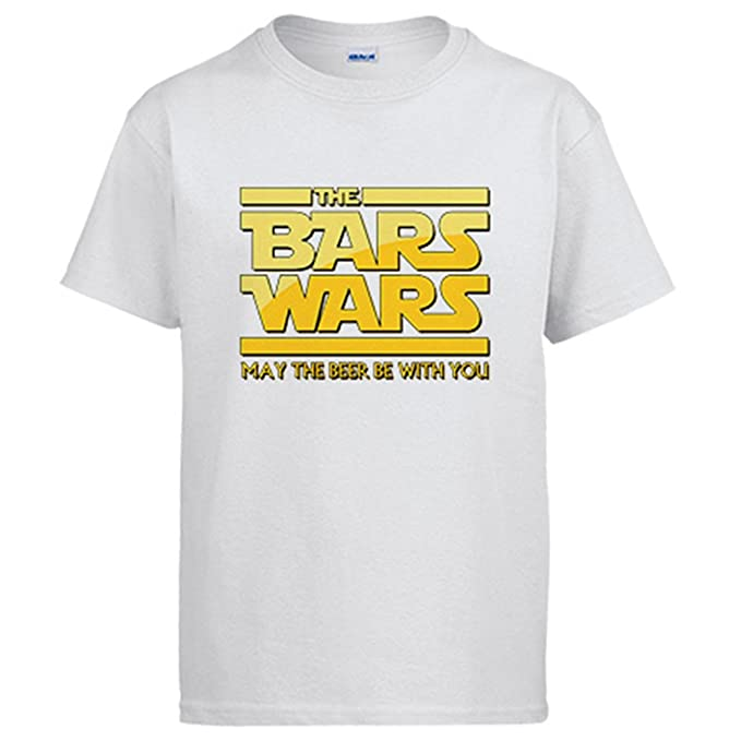 Diver Camisetas Camiseta Star Wars The Bars Wars May The Beer Be with You: Amazon.es: Ropa y accesorios