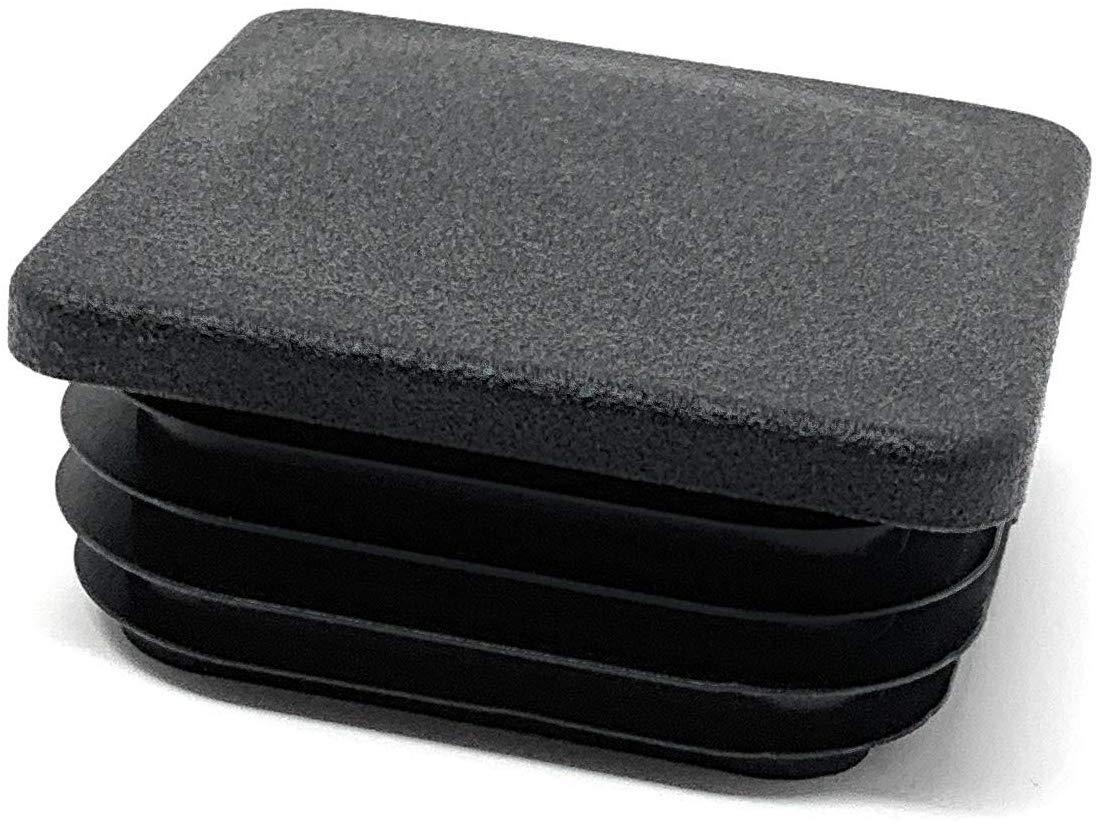 Design61 Tap/ón de tuber/ía 4 unidades, cuadrado, 80 x 80 mm, con l/áminas, para dimensiones interiores 71-76 mm