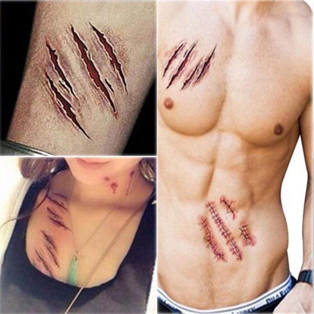 Chengzhi Tatuajes Temporales (10 Hojas) - Halloween Zombie ...