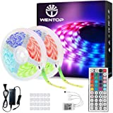 WenTop Led Strip Lights Kit 65.6ft(20M) 5050 SMD RGB Flexible LED Tape Lights with Power Supply and 44Key IR Remote Controlle