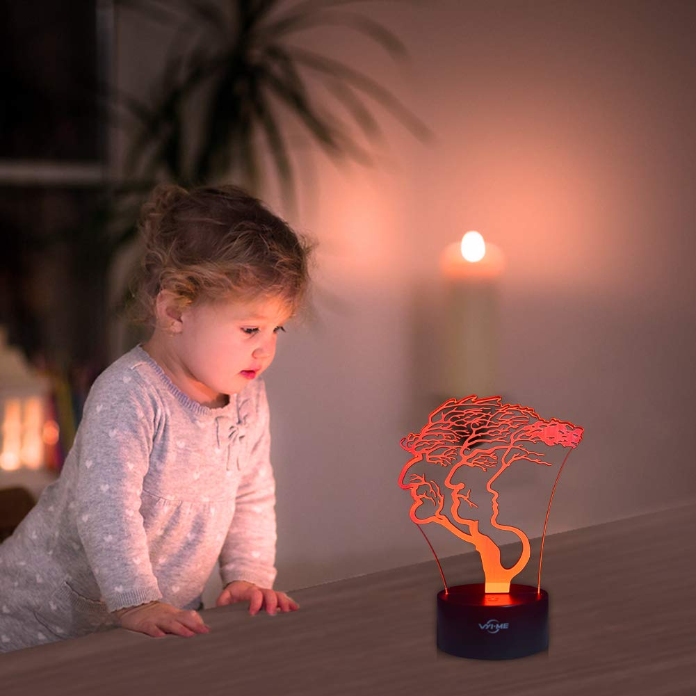 Creative Festival Birthday Day Children Gift Butterfly Illusion Night Light for Nursery Bedroom Desk Table Decoration LED Visual 3D Lamp