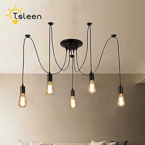 YCDC Nordic araña lámpara de Techo Loft decoración clásica 5 ...