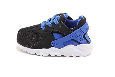 Nike Air Huarache , Chaussures Tennis Pour Bébé Couleur Blanche / Bleue ,  Noir, UK