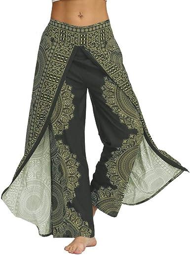 Zezkt Pantalones Anchos Mujer Pantalones De Yoga Bohemios Mujeres Casual Pantalones Harem Boho De Impreso Pantalon Mujer Pantalon Harem De Yoga Pantalones Casuales Pantalones De Danza Para Mujer Amazon Es Ropa Y Accesorios