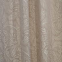 R.LANG Back Tab/ Rod Pocket Blackout Window Curtains for Bedroom Light Beige/White 52 by 90-Inch (Set of 2 Panels)