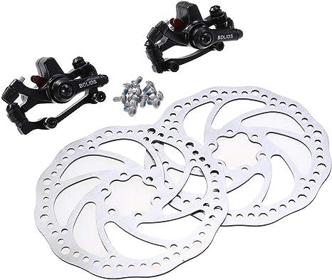 LIOOBO Freno de Disco de Bicicleta Ajustable Adaptador de Rotor Delantero y Trasero con 2 Frenos para Bicicleta de montaña: Amazon.es: Deportes y aire libre