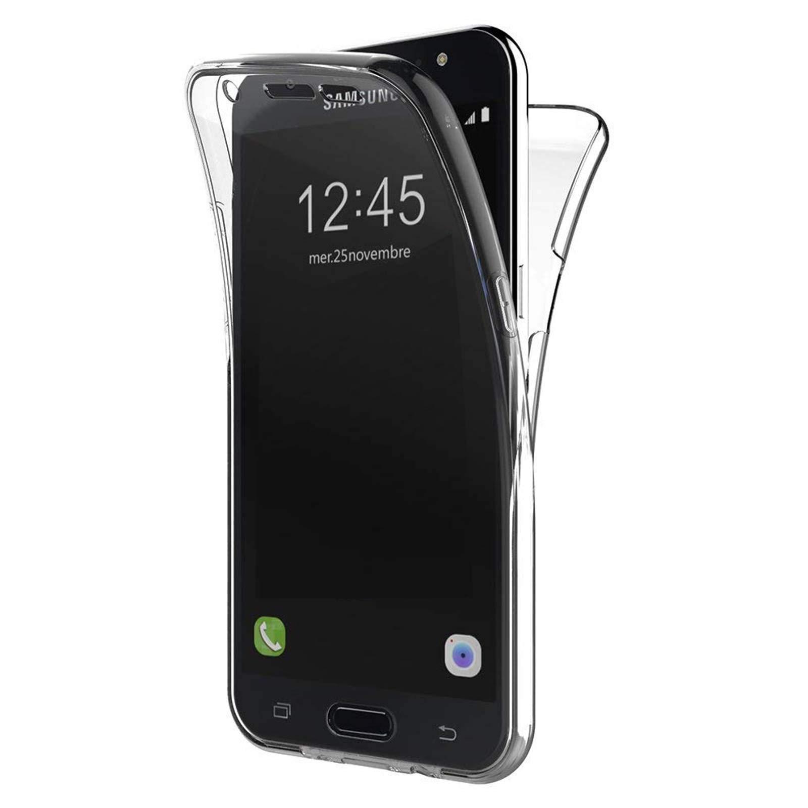 LINCIVIUS  Coque Samsung Galaxy J5 2016, Housse Galaxy J5 2016 Protection Souple TPU Full Cover 360 Housse Integrale Avant Et Arrière Etui Accessoires Ultra Fin Et Discret - Coloris Transparent
