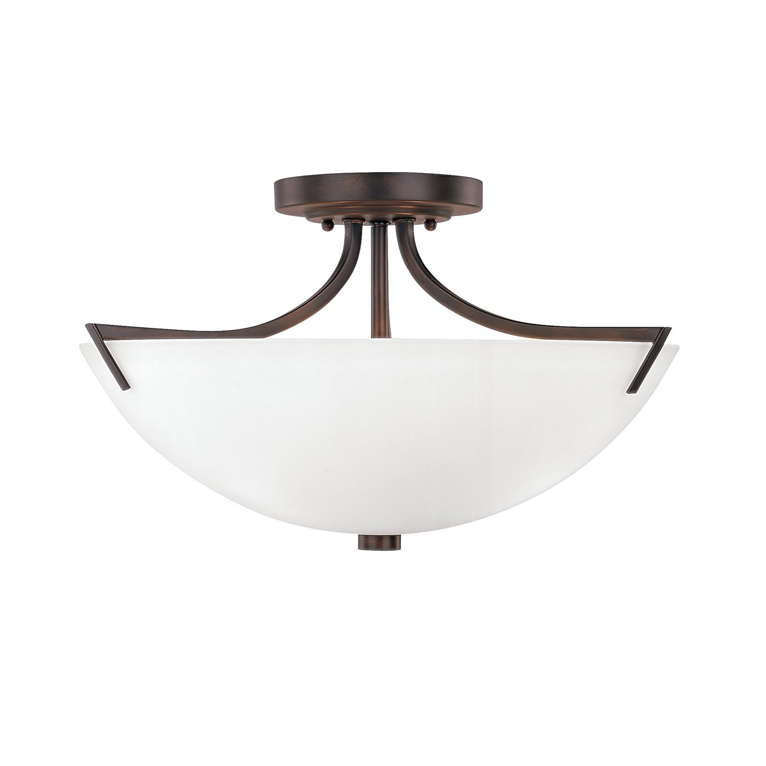 Capital Lighting 4037BB-SW Three Light Semi-Flush Fixture by Capital Lighting