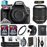 Holiday Saving Bundle for D3300 DSLR Camera + 18-140mm VR Lens + Battery Grip + 64GB Class 10 Memory Card + 2yr Extended Warranty + 32GB Class 10 Memory + Backup Battery - International Version