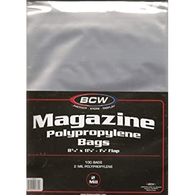 (200) BCW Magazine Size Bags / Covers: Toys & Games