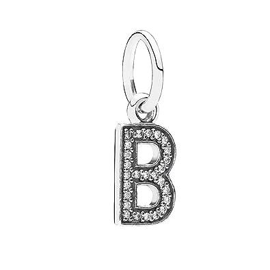 Amazon pandora pendant letter b 791314cz jewelry pandora pendant letter b 791314cz aloadofball Image collections