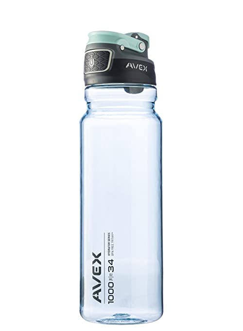 7675f5c364 AVEX FreeFlow Autoseal Water Bottle, Ice, 1000ml/34 oz,1000mL/34oz:  Amazon.in: Home & Kitchen