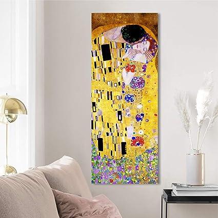 Quadri L&C ITALIA Klimt Il Bacio Quadro su Tela da Parete 30 x 83 ...