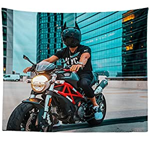 Westlake Art Wall Hanging Tapestry - Motorbike Batman - Photography Home Decor Living Room - 68x80in (a13z)
