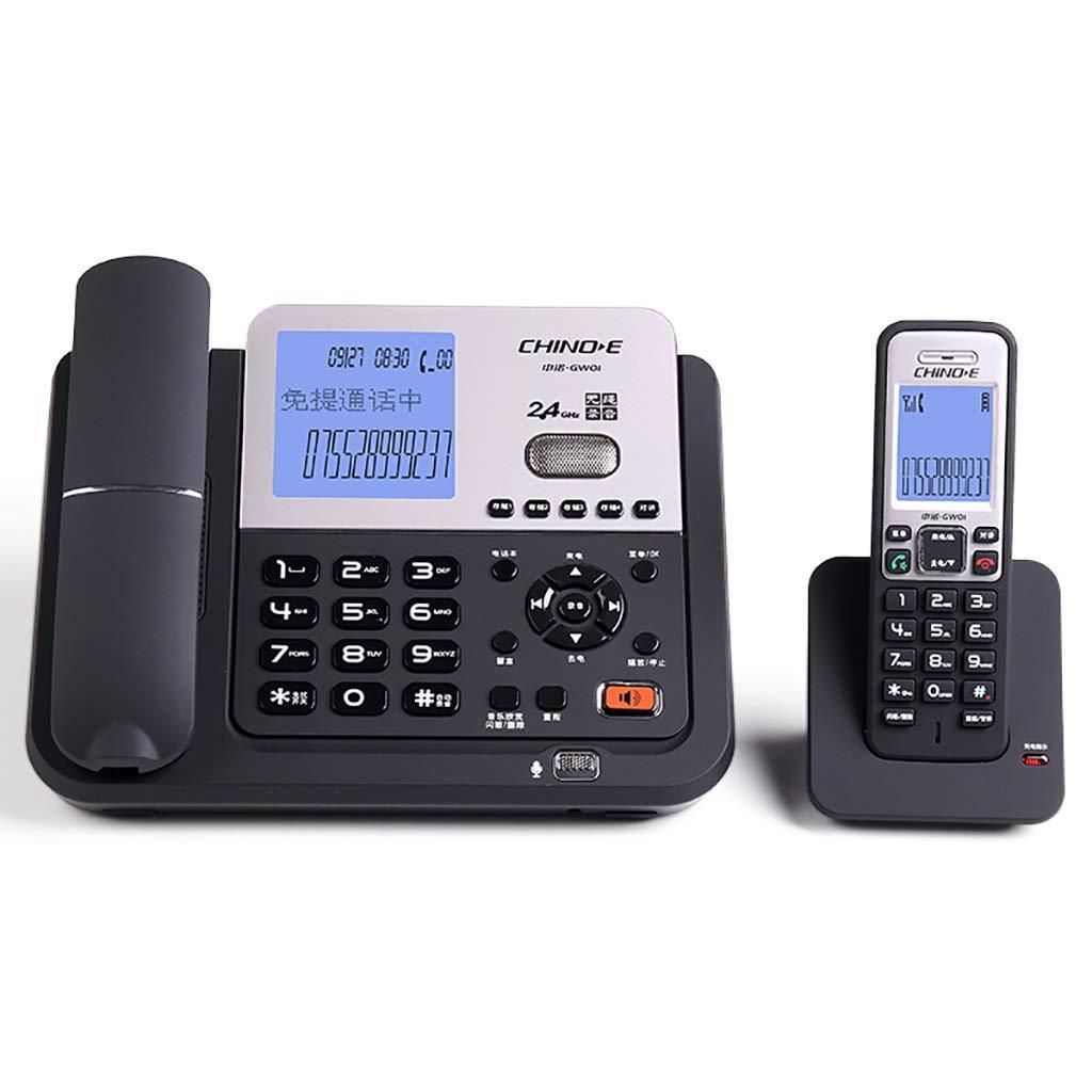ホーム無線電話/オフィス固定電話固定電話着信者ID記録メッセージRキー転送ミュート (色 : 黒)  黒 B07M843K11