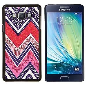Tarjetas del póker tinta púrpura Patrón- Metal de aluminio y de plástico duro Caja del teléfono - Negro - Samsung Galaxy A7 / SM-A700