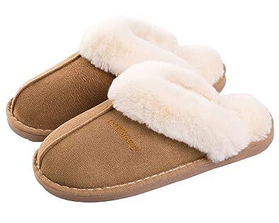 Kemosen Damen Hausschuhe Herren Pantoffeln Pantoffeln Pantoffeln Winter Warme Weiche ... 570608