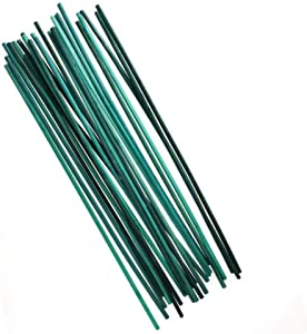 kungfu Mall Plant Support Sticks, Wood Plant Stake, 50 Pcs Green Flower Sticks Split Support Cane Garden Plant 12 Inch Canes for Home & Garden