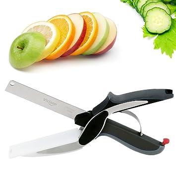 Vicloon 2-in-1 Clever Cutter, Edelstahl Gemüseschneider und ...