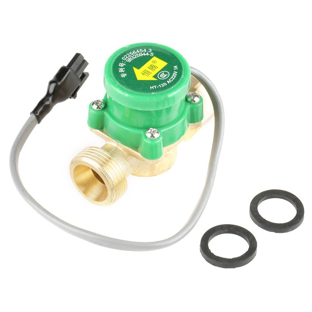 1 PCS HT-120 AC220V 1A G3/4''-3/4'' Thread Water Pump Flow Sensor Switch for Shower Flow Water Heater