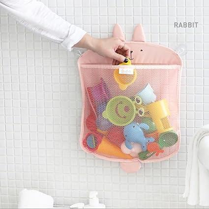 Bathroom Kids Baby Bath Toy Bag Net Tidy Storage Tile Suckers Large 45x35cm Tool