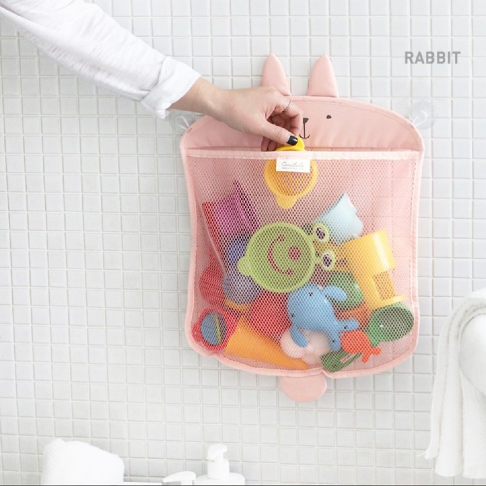 Bath Toy Net, Kids Toy Organiser Mesh Storage Bag Baby Toy Holder with 2 Strong Suction Hooks Eholder Bathroom Tidy Organiser for Shampoo, Towel & Body Shower Brush Kidlife Manufacturing Company
