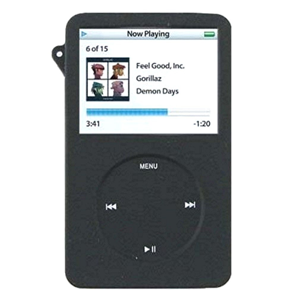 BLACK Silicone skin case Cover for new iPod Classic: Amazon.co.uk:  Electronics