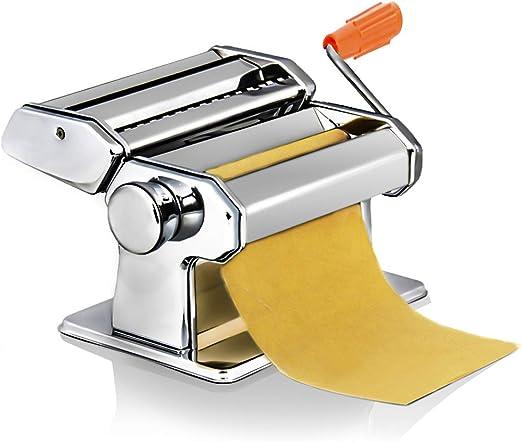 M/áquina para Hacer Pasta Hecha a Mano de Acero Inoxidable Herramienta de Mano para Hacer Lasa/ña Tallarines Espaguetis Fideos