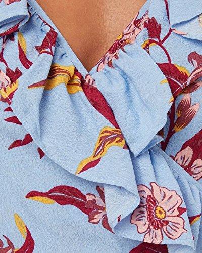Houle Crêpe Robe Maxi Floral Kauai Féminin Kauai