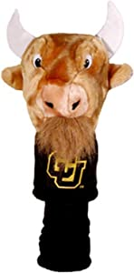 Team Golf NCAA Colorado Buffaloes Mascot Golf Club Headcover, Fits most Oversized Drivers, Extra Long Sock for Shaft Protection, Officially Licensed Product