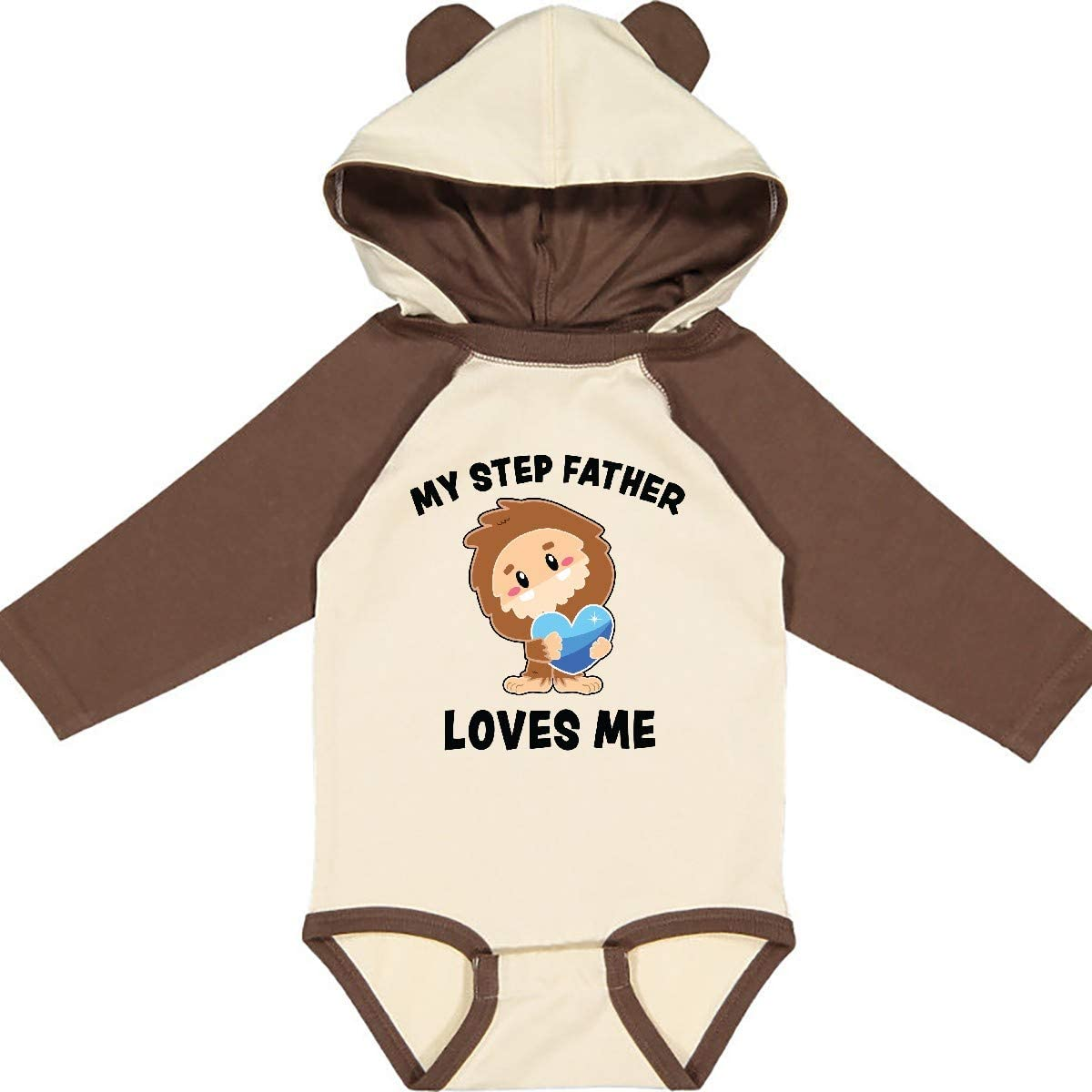 inktastic Cute Bigfoot My Step Father Loves Me Long Sleeve Creeper