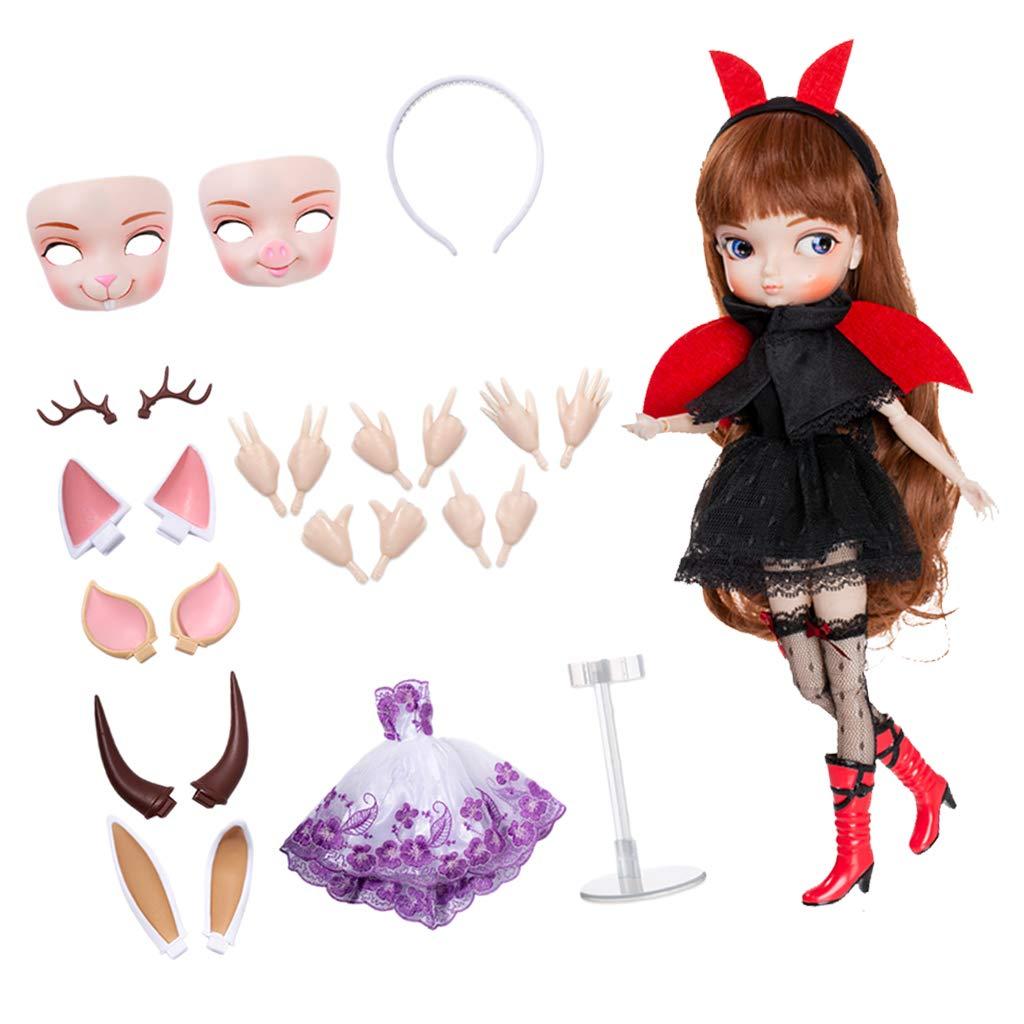 30dbc95d5a9b ... Non brand Baoblaze 35cm 35cm 35cm Bambola Femminile Action Figure Joint  Ball Girl Doll Modello con ...