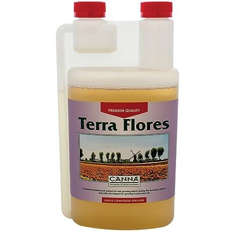 CANNA Terra Flores - Fertilizante biológico de floración, 1 litro