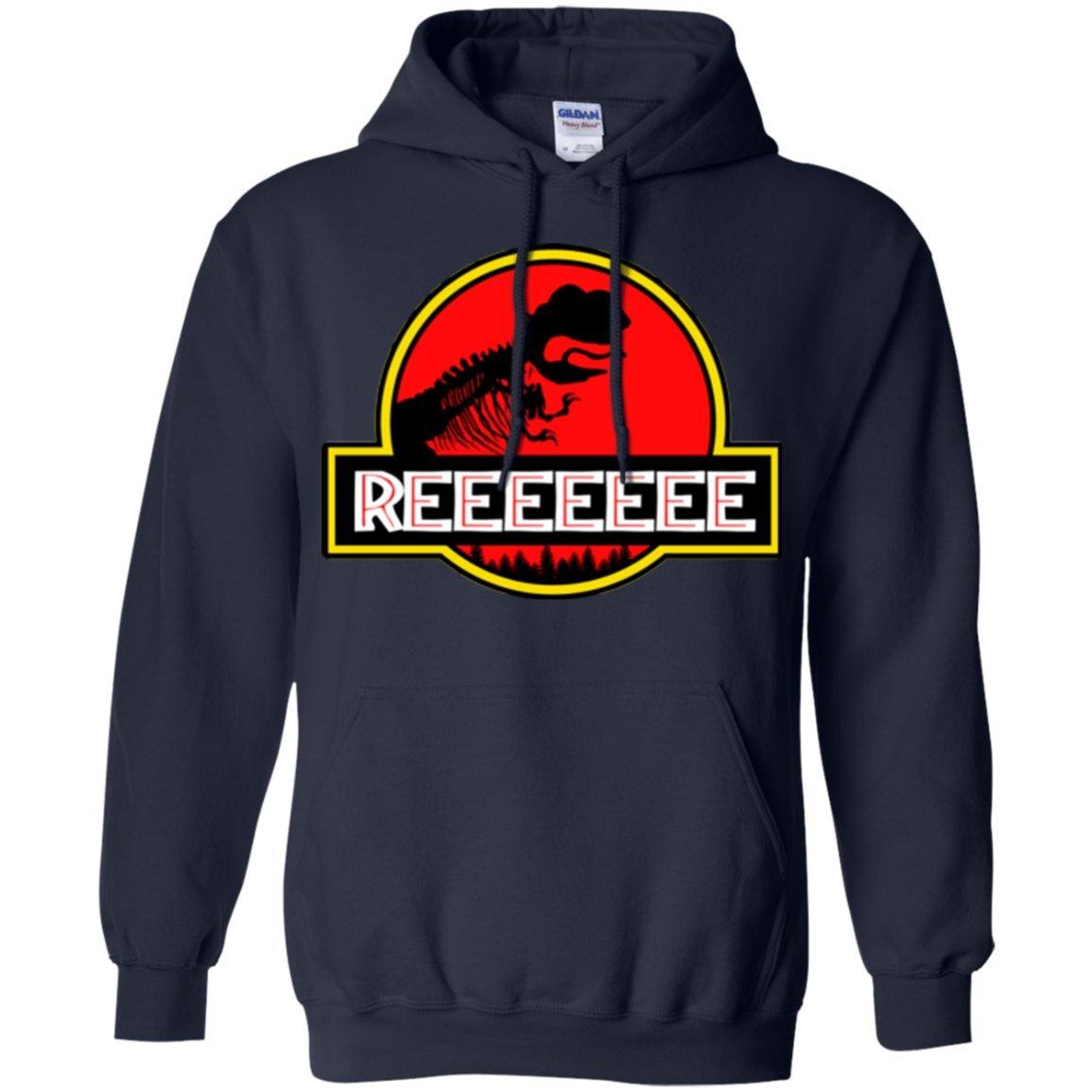 ThatMerch.Store Jurassic Pepe The Frog Reeeeee Parody Kekistan Hoodie
