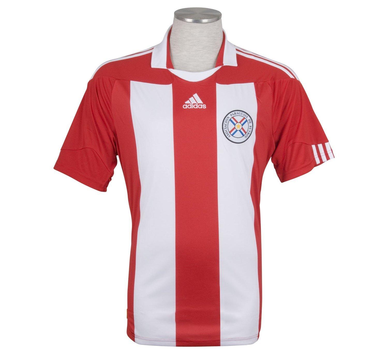 Adidas Barrios #8 Paraguay Camiseta 1ra Futbol (Tamaño De Los EEUU) (L): Amazon.es: Deportes y aire libre