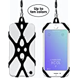 2 in 1 Cell Phone Lanyard Rocontrip Strap Case Holder with Detachable Neckstrap Universal for Smartphone iPhone 8,7 6S iPhone 6S Plus, Google Pixel LG HTC Huawei P10 4.7-5.5 inch(Black)