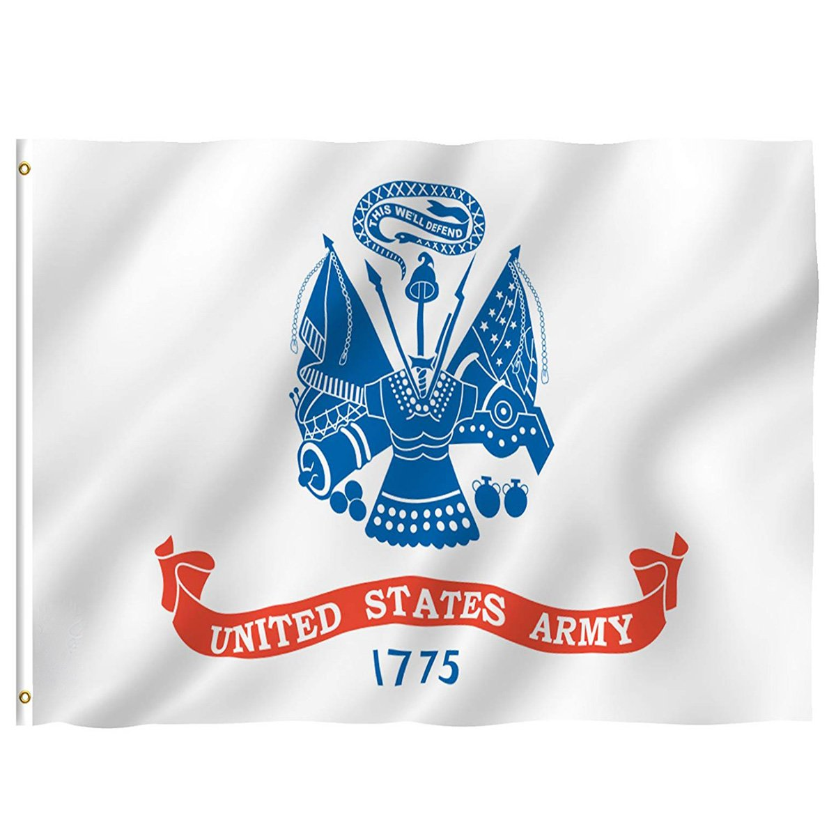 America Flags USA Army Military Patriotic Soldier Flag 4x6 Feet with Brass Grommet Double Stitch United States Soldiers Military Veterans Day Banner Garden Flag House Decorations for Indoor Outdoor