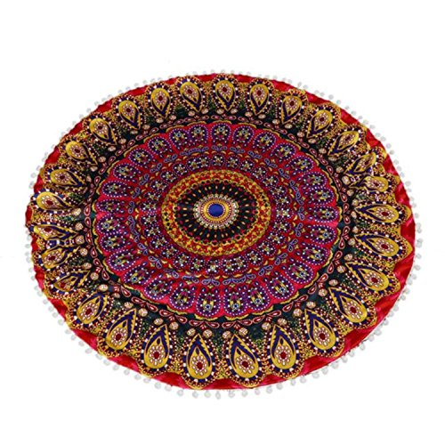 Floor Pillows Round Bohemian Meditation Beautiful Are Sold With Or Without The Filler. Style India by Poufs