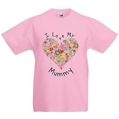 cae854e9 Kids I love my Mummy mothers day T-shirt, Extra Extra Small, Light