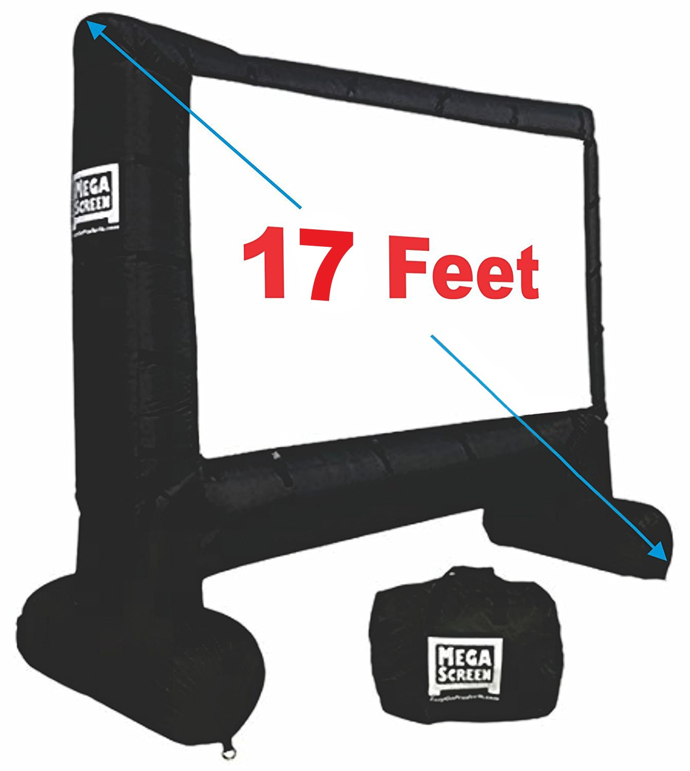 EasyGo Products 17' Inflatable Mega Movie Screen - Canvas Projection Screen for Outdoor Parties - Movie Cinema is Guaranteed to Thrill and Excite. Includes Inflation fan, Tie-Downs and Storage bag by EasyGoProducts
