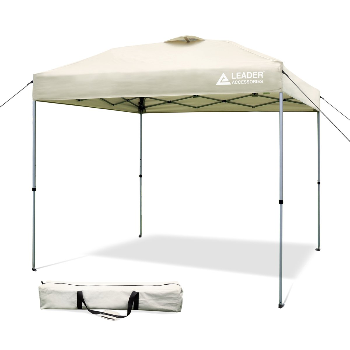 Leader Accessories 8' x 8' Straight Wall Instant Canopy with Carry Bag 8' x 8' Straight Wall Instant Canopy with Carry Bag (Beige)