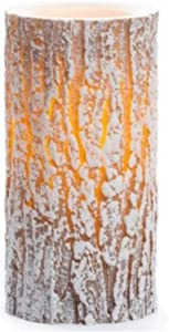 Inglow Flameless LED Real Wax 6 Inch Pillar Candle- Frosted White Snow Pillar