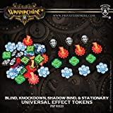Warmachine and Hordes Universal Effect Tokens: Blind, Knockdown, Shadow Bind, Stationary Mk3